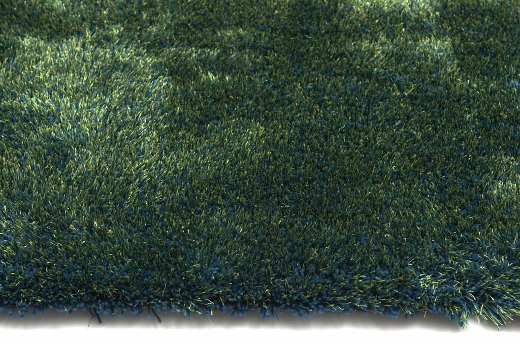 hochflor teppich ross rund 53 mix blau gr n floorpassion. Black Bedroom Furniture Sets. Home Design Ideas