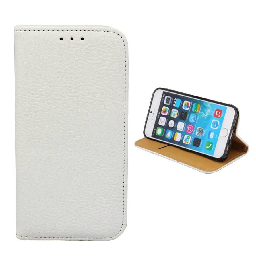 Bookcase PU Lederlook voor Apple iPhone 8 Plus/7 Plus Wit
