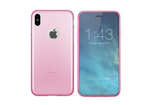 CoolSkin3T iPhone X/Xs Transparant Roze