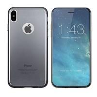 CoolSkin3T voor de Apple iPhone X in Transparant Zwart