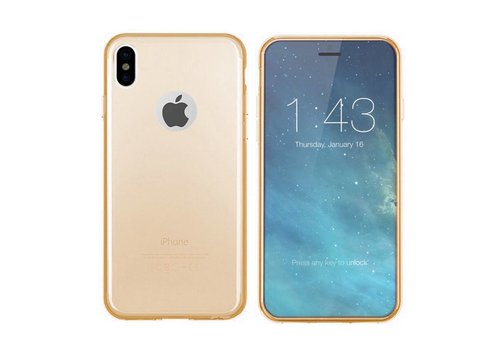 CoolSkin3T iPhone X/Xs Transparant Goud
