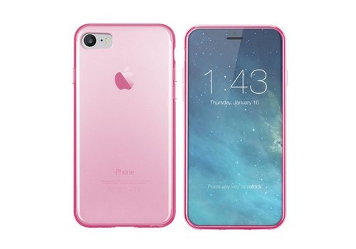 CoolSkin3T iPhone 8/7 Transparant Roze
