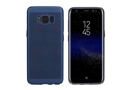 Hoes Mesh Holes Samsung J7 2016 Blauw