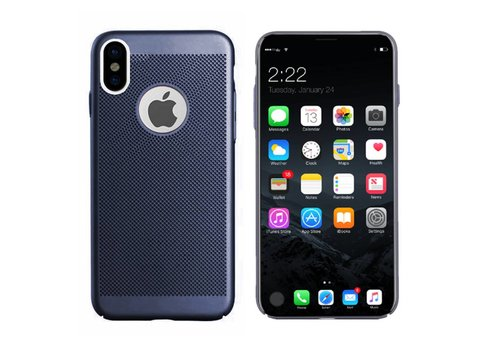 Hoes Mesh Holes iPhone X Blauw