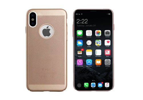 Hoes Mesh Holes iPhone X Goud