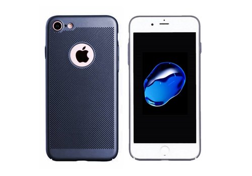 Hoes Mesh Holes iPhone 7 Blauw