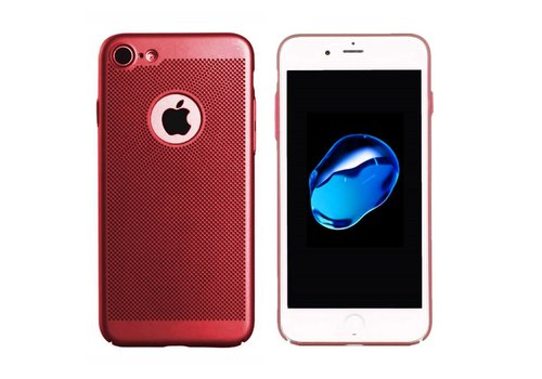 Hoes Mesh Holes iPhone 8 Rood