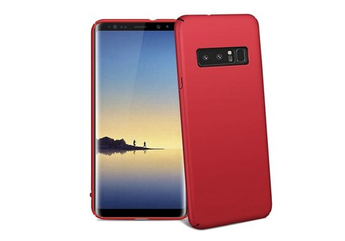 Hoes Mat Samsung Note 8 Rood