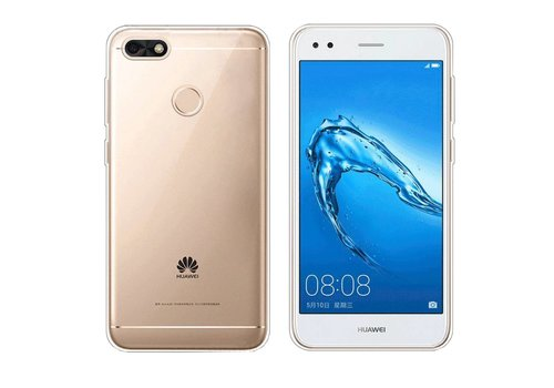 CoolSkin3T Siliconen Huawei Y6 Pro 2017 Transparant Wit