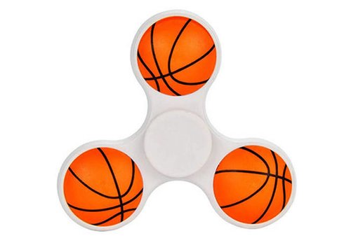 Hand Spinner 3D Basketbal in Wit