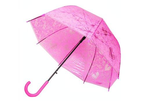Koepel Paraplu Ø80cm Semi Tr. Donkerroze