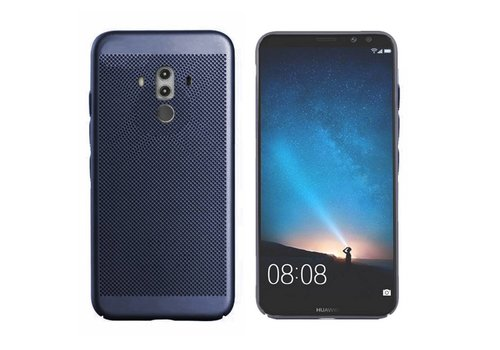 Hoes Mesh Holes Mate 10 Pro Blauw