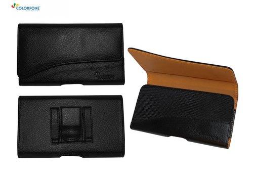 Horizontaal Elegant iPhone X Zwart