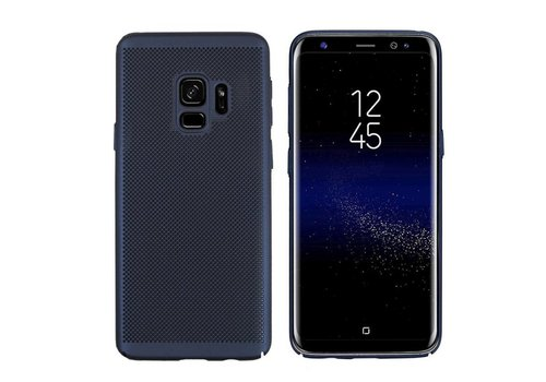 Hoes Mesh Holes Samsung S9 Blauw