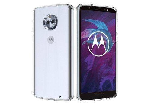 CoolSkin3T Motorola Moto G6 Plus Transparant Wit