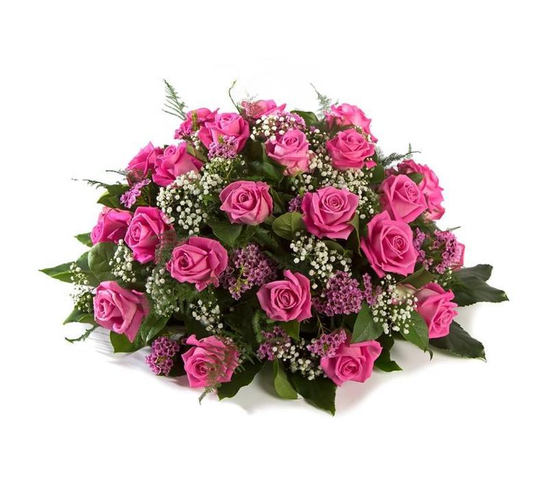 Biedermeier roze roos