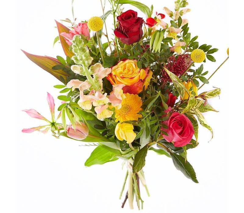 Boeket kleurrijke Valentijn
