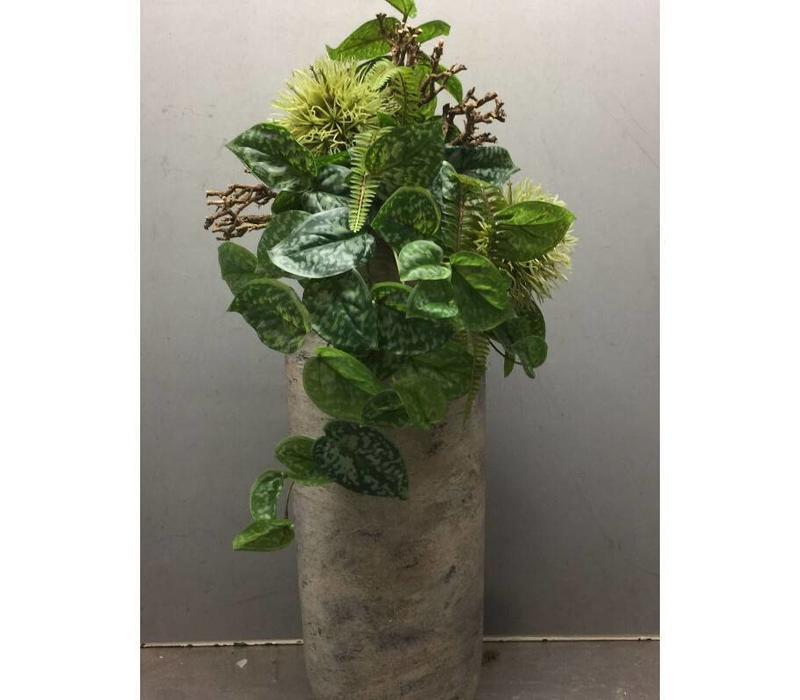 Zijden plantenarrangement hoog