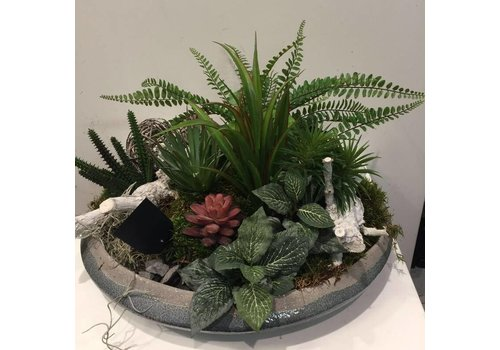 Zijden plantenschaal