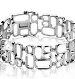 Zinzi Mart Visser by ZINZI zilveren fantasie armband glad MVA3 (MVA3)
