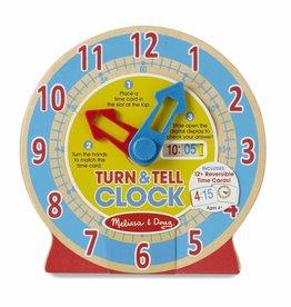 Melissa & Doug Houten leer klok
