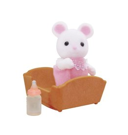 Sylvanian Families Baby Witte Muis