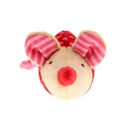 Sigikid Rattle mouse pink, Red Stars
