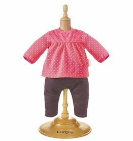 Corolle Blouse & denim raspberry - Pop 30cm