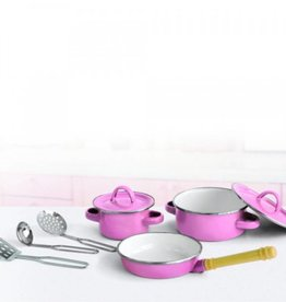 Simply for Kids Pannenset metaal roze