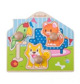 EverEarth Houten puzzel huisdieren