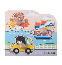 EverEarth Houten puzzel voertuigen