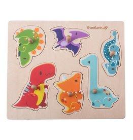 EverEarth Houten puzzel dinosauriërs