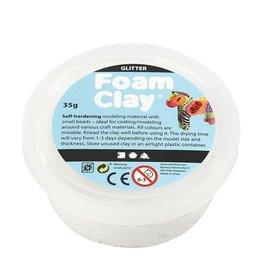 Foam Clay Foam Clay los wit glitter