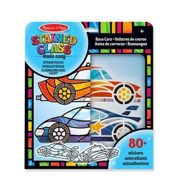 Melissa & Doug Glas in lood stickeren - Race auto's