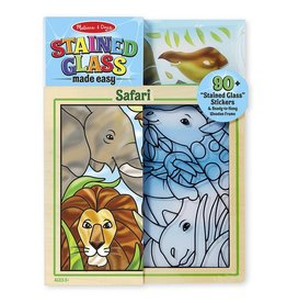 Melissa & Doug Glas in lood stickeren - Safari