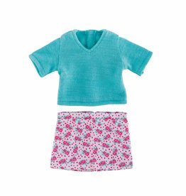 Corolle Ma Corolle - Floral skirt & pullover