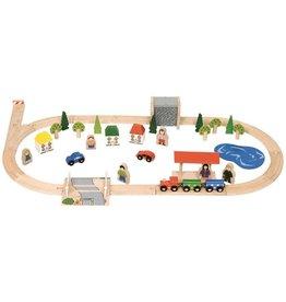 Bigjigs Village Train Set