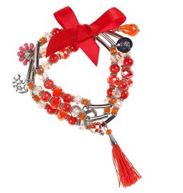 Souza Kralen armband Lea rood