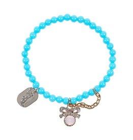 Souza Kralen armband Doeska blauw