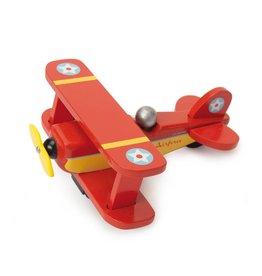 Le Toy Van Houten vliegtuig rood