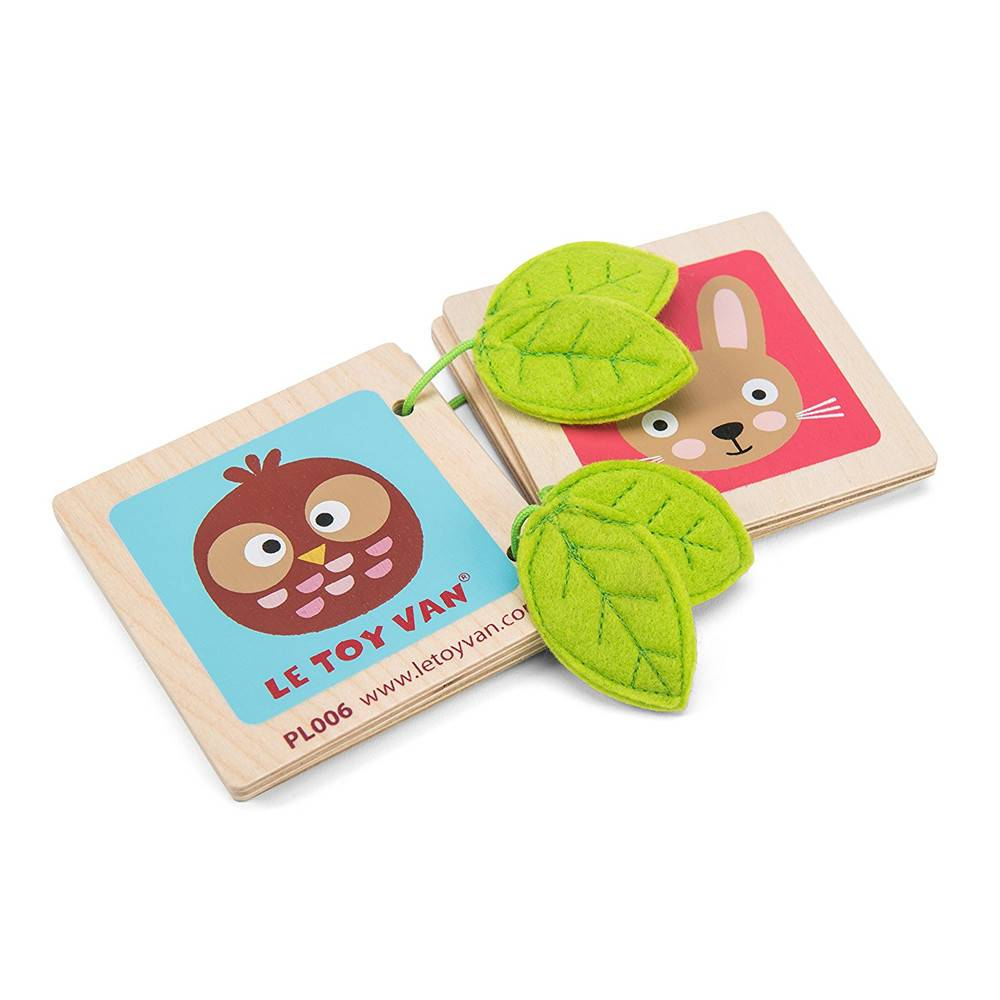 Le Toy Van Petilou Babyboekje hout - Woody Woodland Book