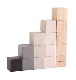 Plan Toys Cubes blokken zwart/grijs