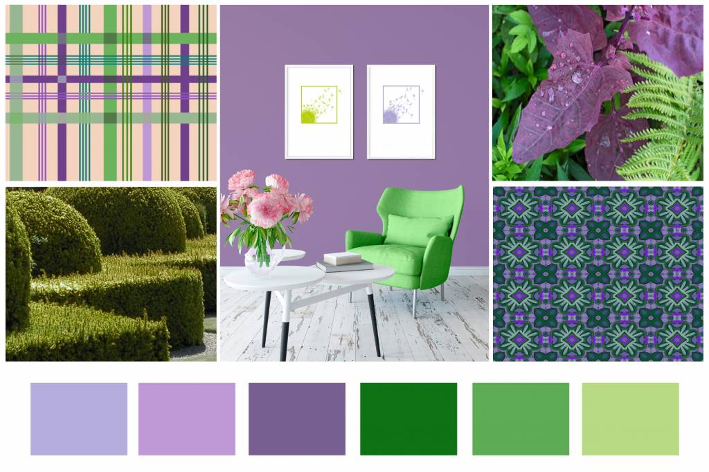 Color Combination Violet Lime