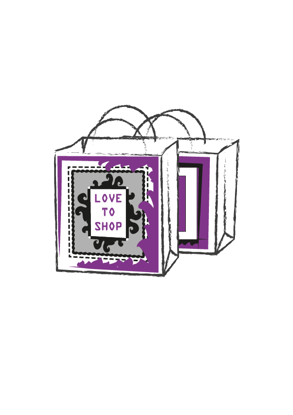 Love to Shop bag design 2