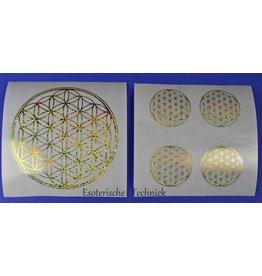 Stickers met de goudkleurige geometrie