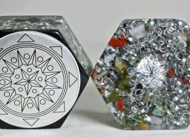 Orgonite geometrie/healing power disk