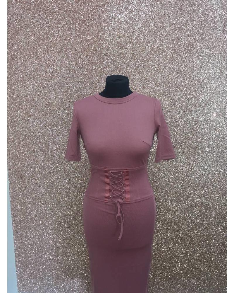 Flash Corset waist  laced dress
