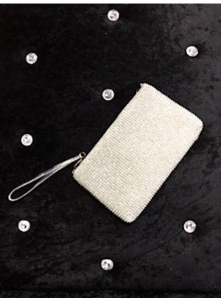 Diamante pouchette evening bag