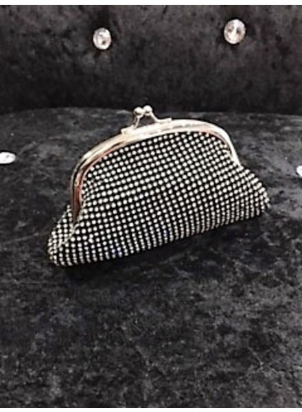Diamante clasp purse