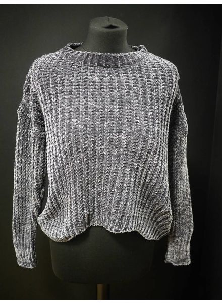 Flash Cherry chenille cropped jumper